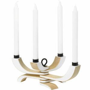 Kerzenständer Nordic Light weiß