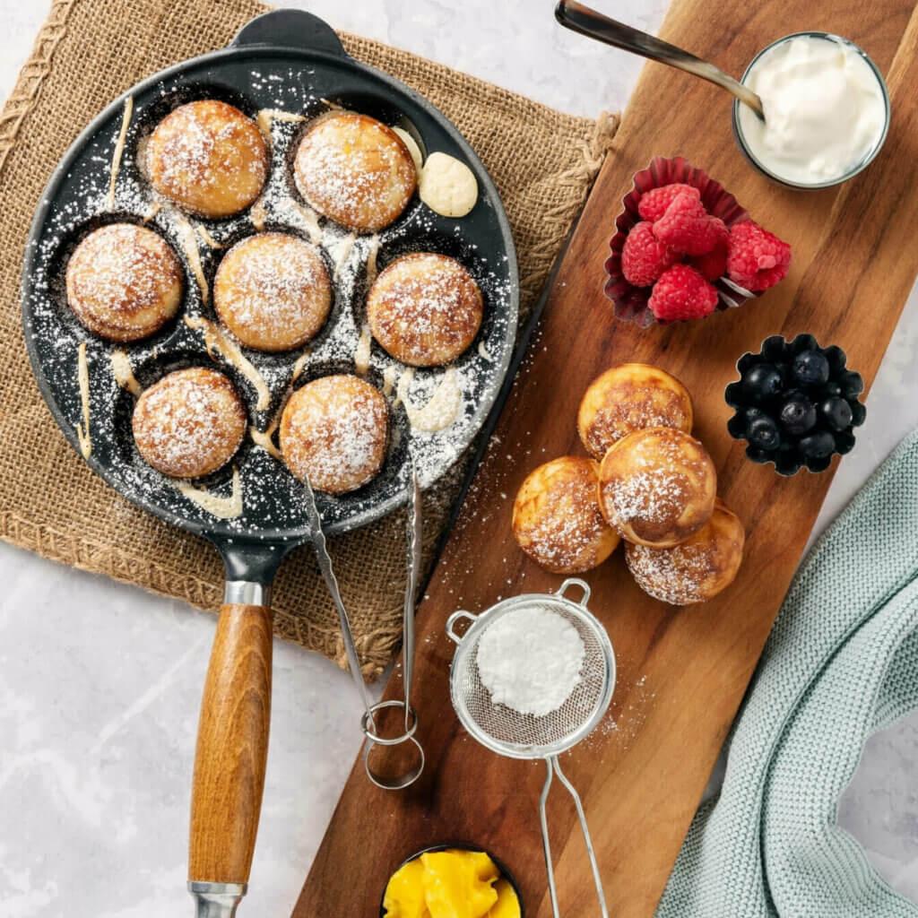 Aebleskiver Pfannkuchen Rezept