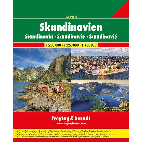 Angeln in Norwegen Straßenatlas