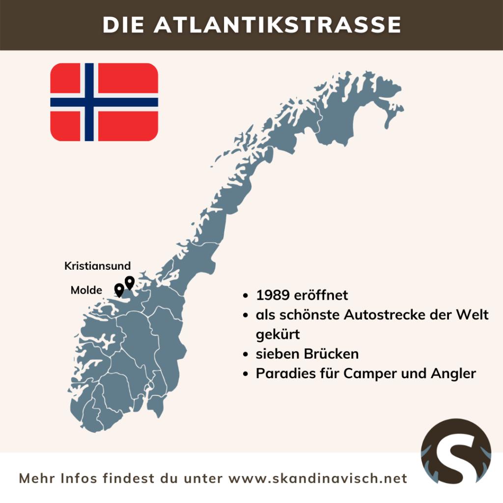 Atlantikstraße Norwegen Karte