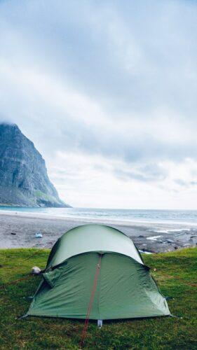 Camping in Norwegen Zelten