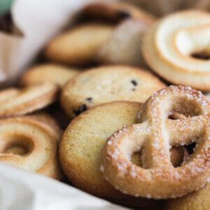 Dänische Butterkekse: Spritzgebäck aus Mürbeteig