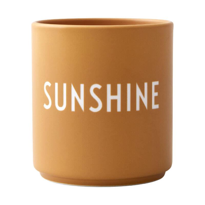 Design Letters Sunshine Becher gelb