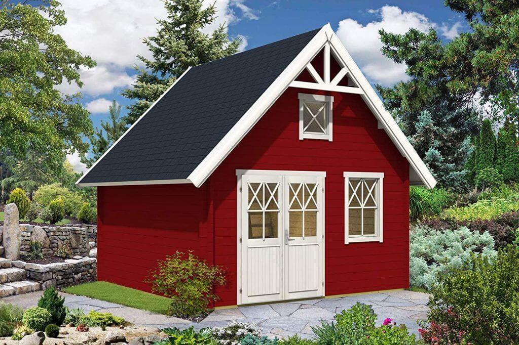 Schwedenhaus Massivholz rot