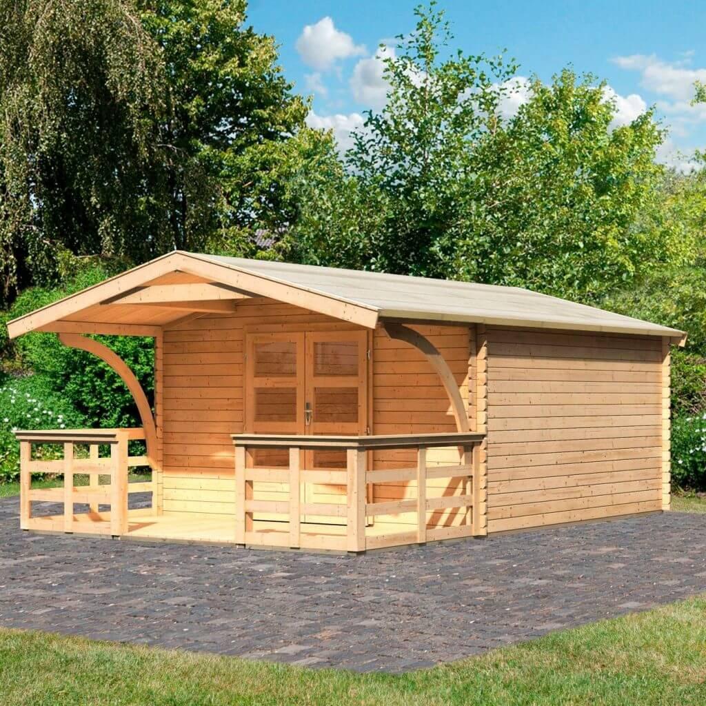 Gartenhaus Holz Veranda