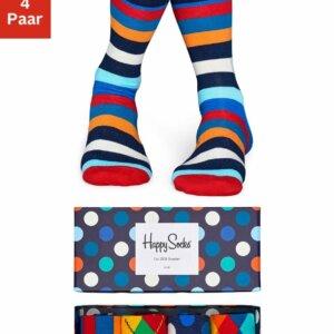 Happy Socks Socken Box 4-Paar verschiedene Muster Box