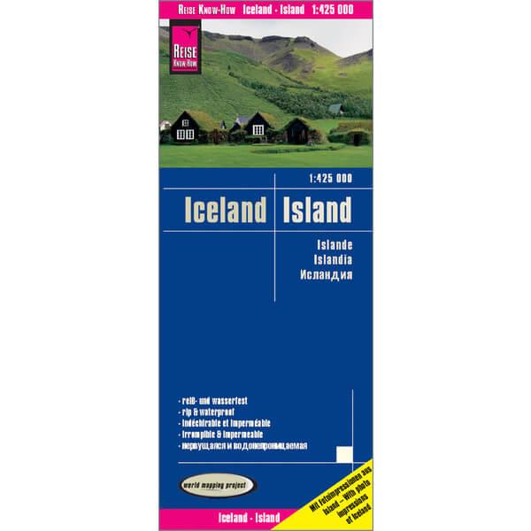 Island Rundreise Auto Karte