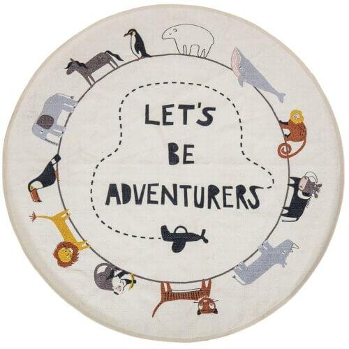 Kinderteppich skandinavisch: Let's be adventurers