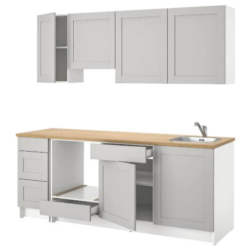 Küche Knoxhult in Grau