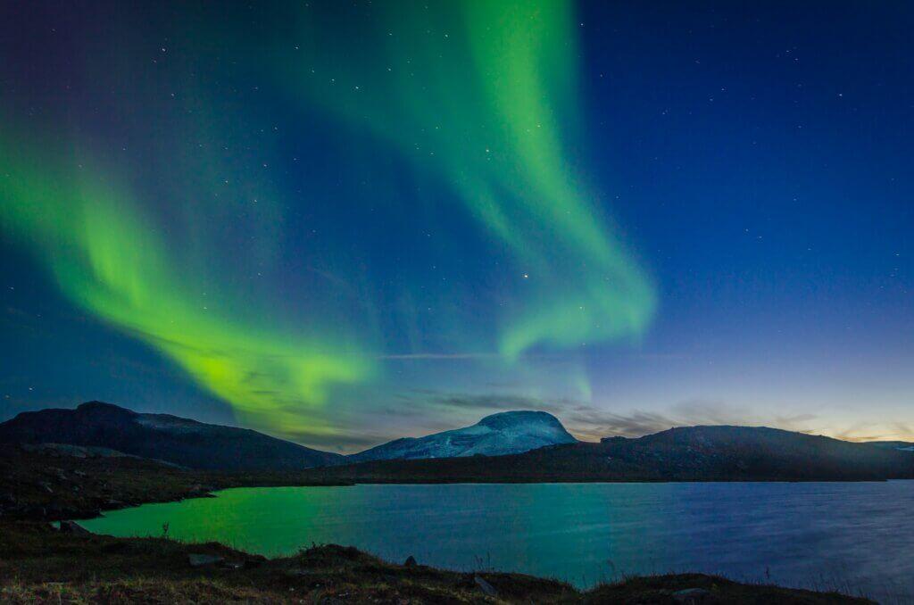 Schwedisch Lappland Natur Polarlichter