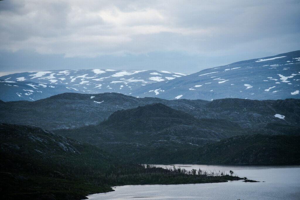 Schwedisch Lappland Natur Riksgränsen