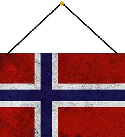 Norwegen Flagge Metallschild