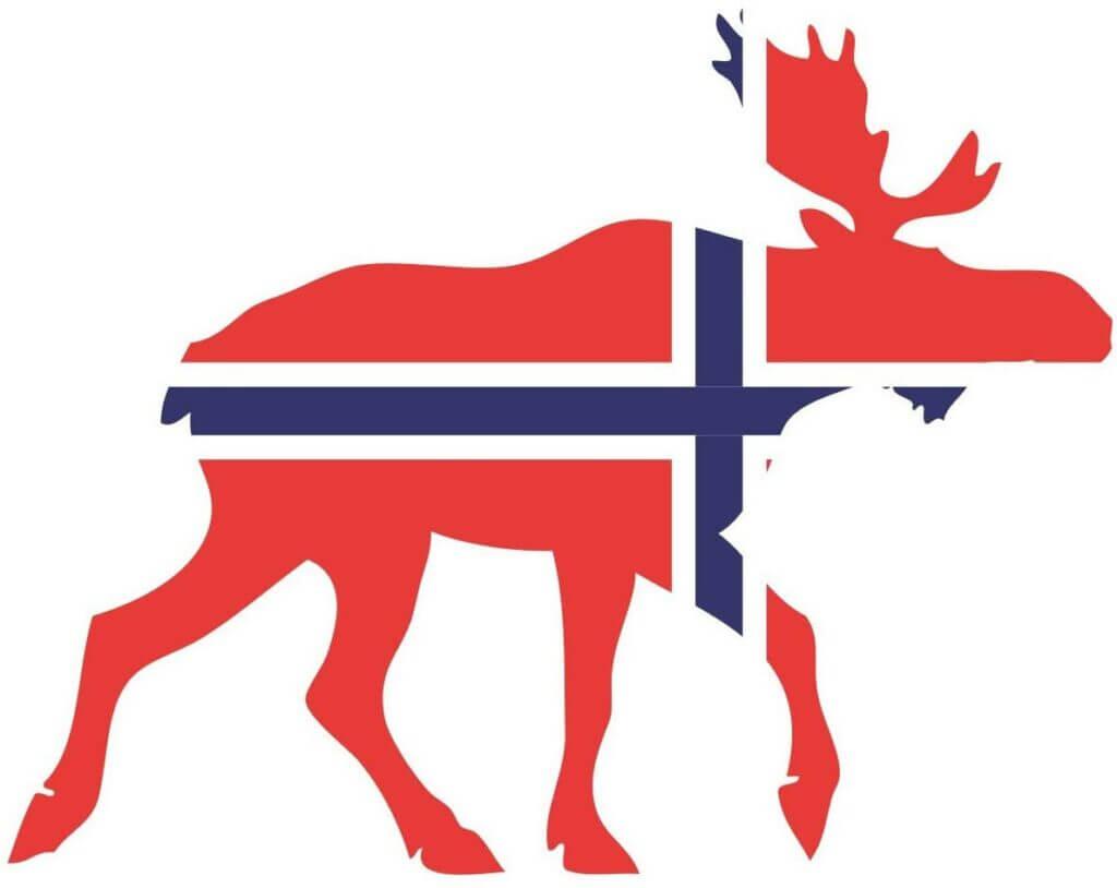 Norwegen Flagge Elch Aufkleber