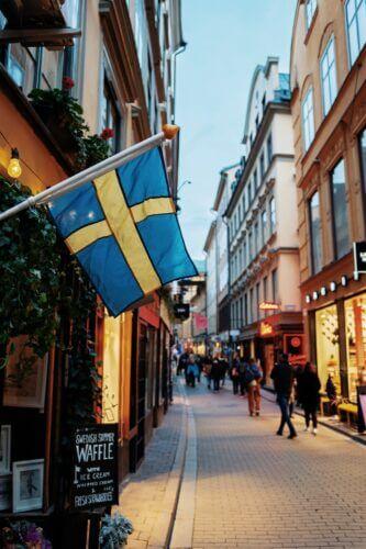 Schweden Flagge Erscheinung