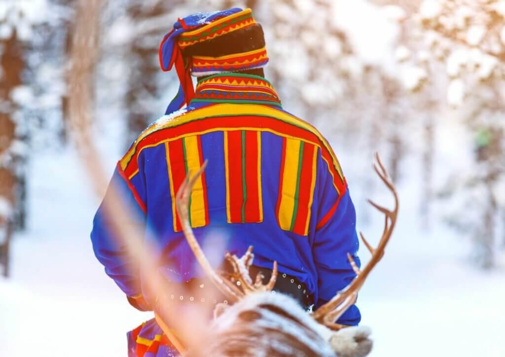 Schwedisch Lappland Sami Mann
