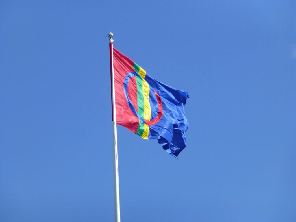 Schwedisch Lappland Samen Flagge