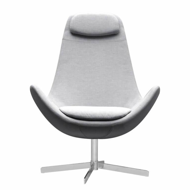 Studio Copenhagen Houston Sessel grau aus Webstoff
