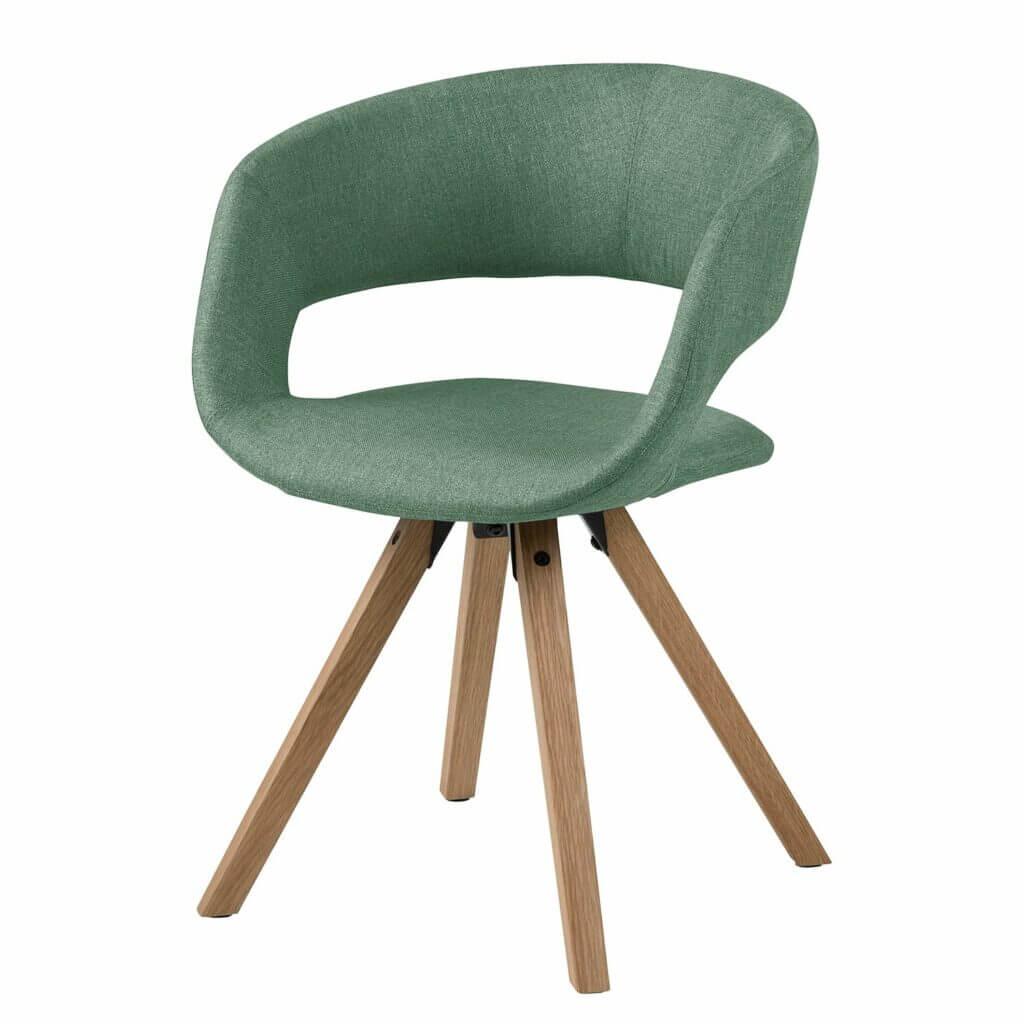 Skandinavischer Stuhl retro in Grün