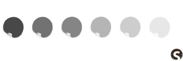 Skandinavische Farbpalette Grau