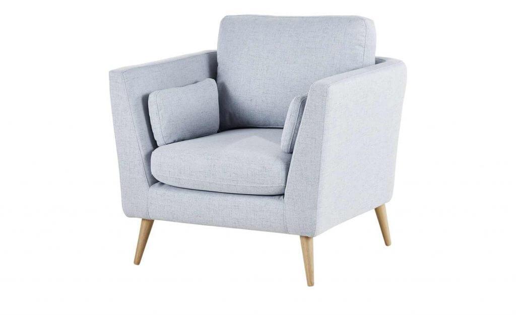 Skandinavische Sessel blau