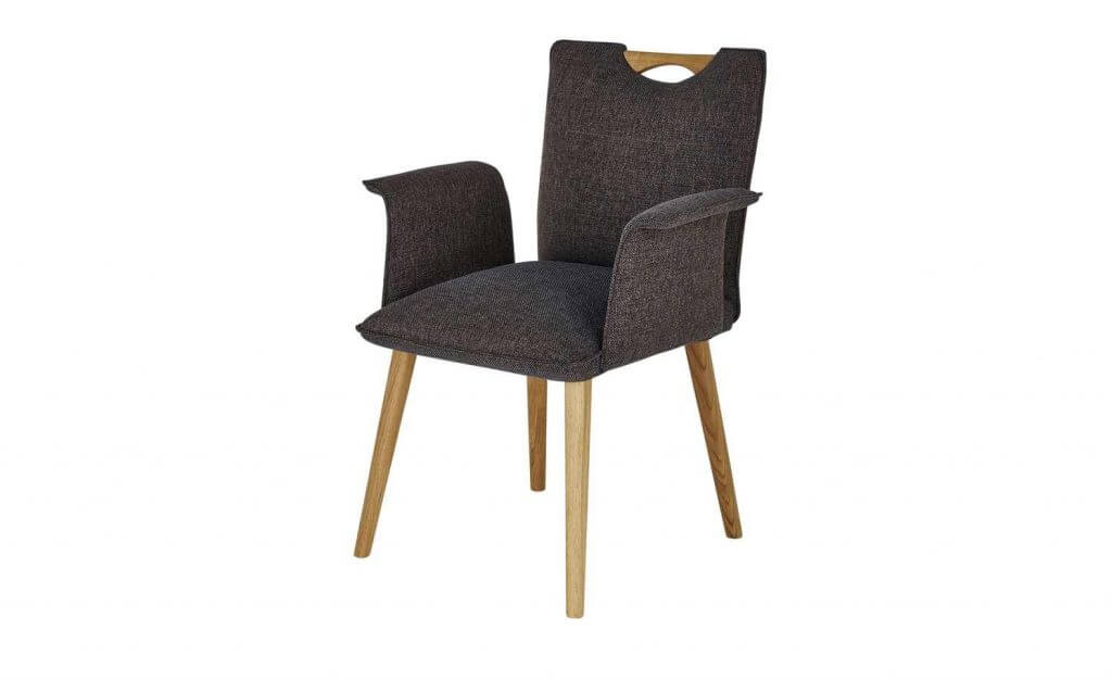 Skandinavischer Stuhl gepolstert Designer-Armlehnen
