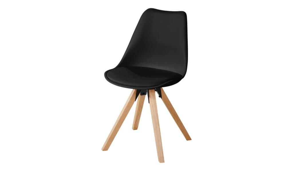 Skandinavischer Stuhl Klassiker schwarz