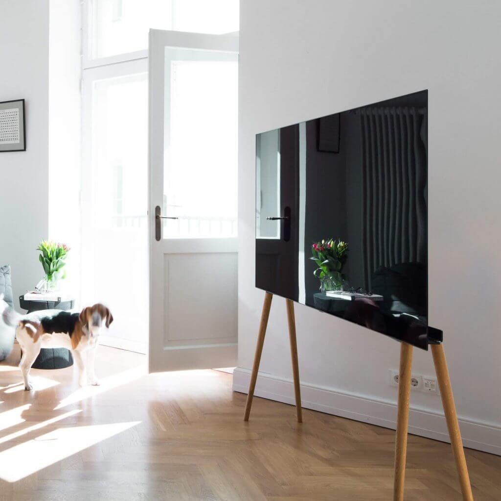 Skandinavischer TV-Ständer Eiche groß