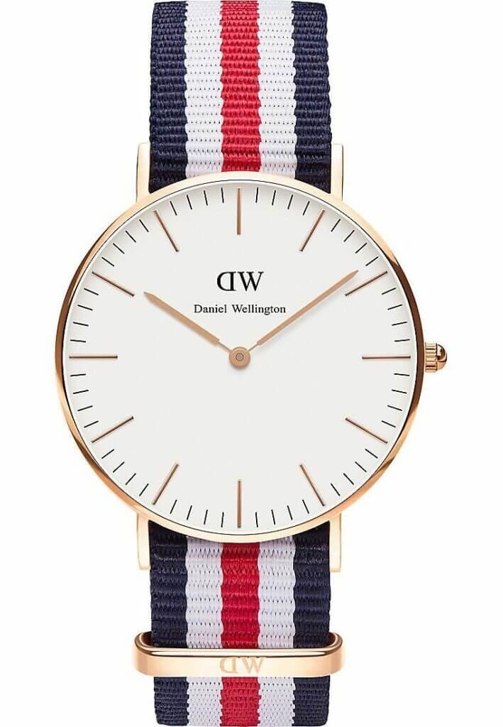Skandinavische Uhr Daniel Wellington Nylonarmband