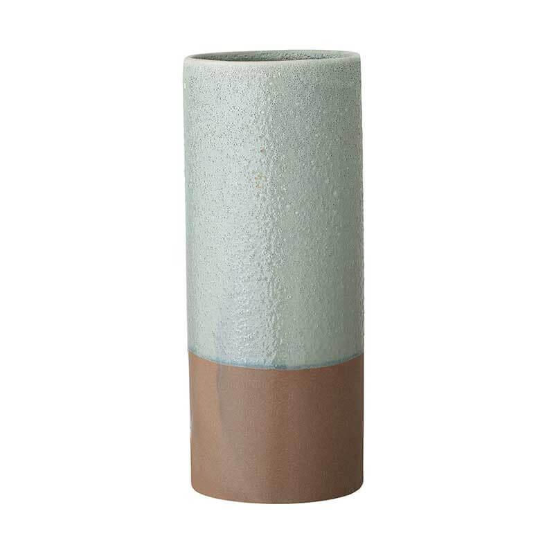 Skandinavische Vase Steingut Zylinder zweifarbig