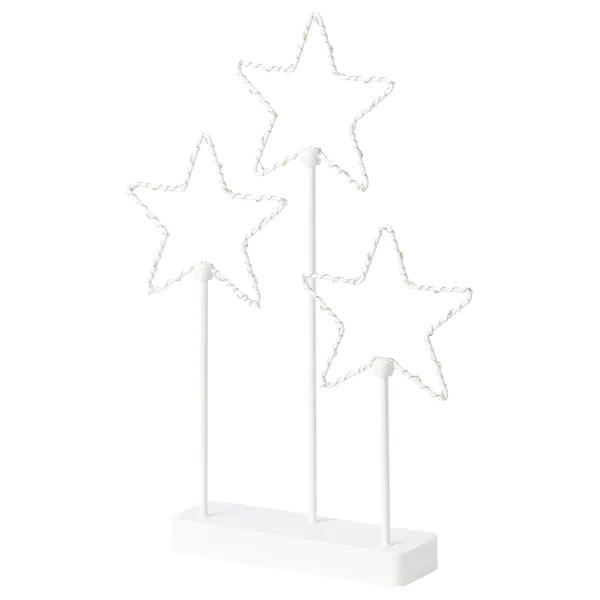 Skandinavische Weihnachtsbeleuchtung Sterne Fenster