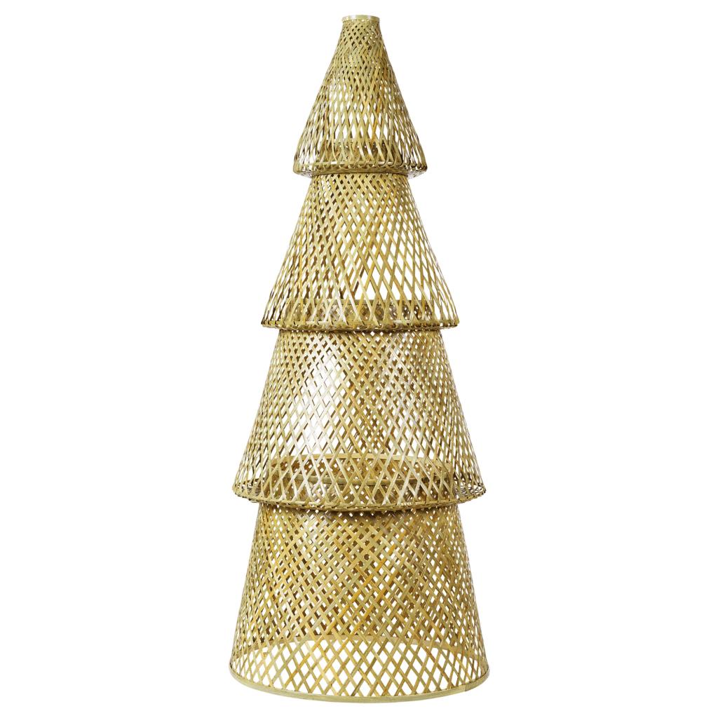 Skandinavische Weihnachtsdeko Weihnachtsbaum künstlich Bambus