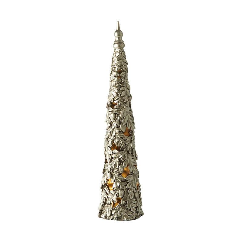 Skandinavische Weihnachtsdeko Weihnachtsbaum künstlich silbern beleuchtet