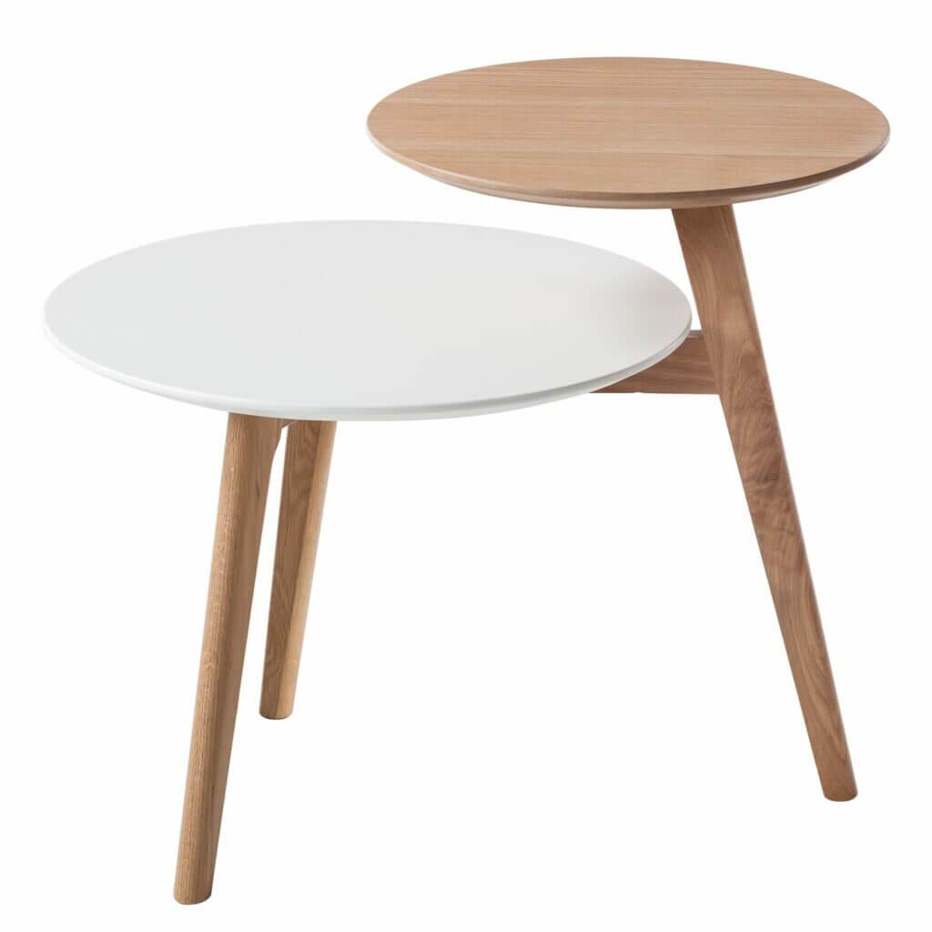 Doppelter Beistelltisch skandinavisches Design