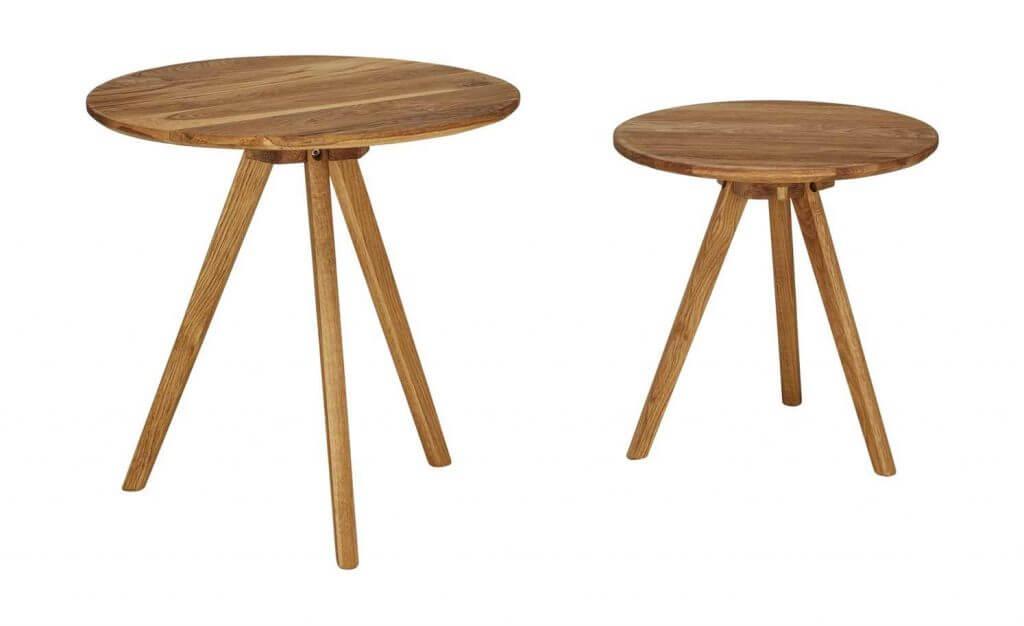 Skandinavische Beistelltische aus Holz