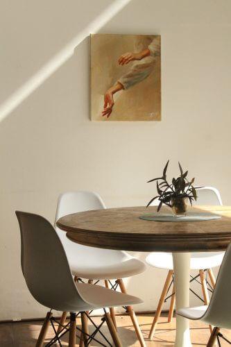 Skandinavischer Esstisch passende Stühle
