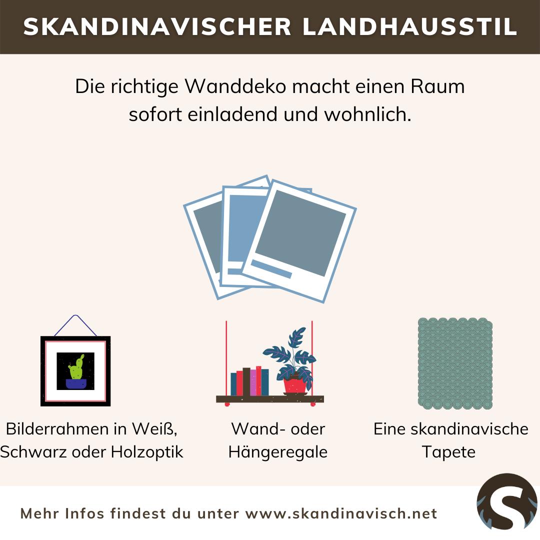 Skandinavischer Landhausstil Wanddeko