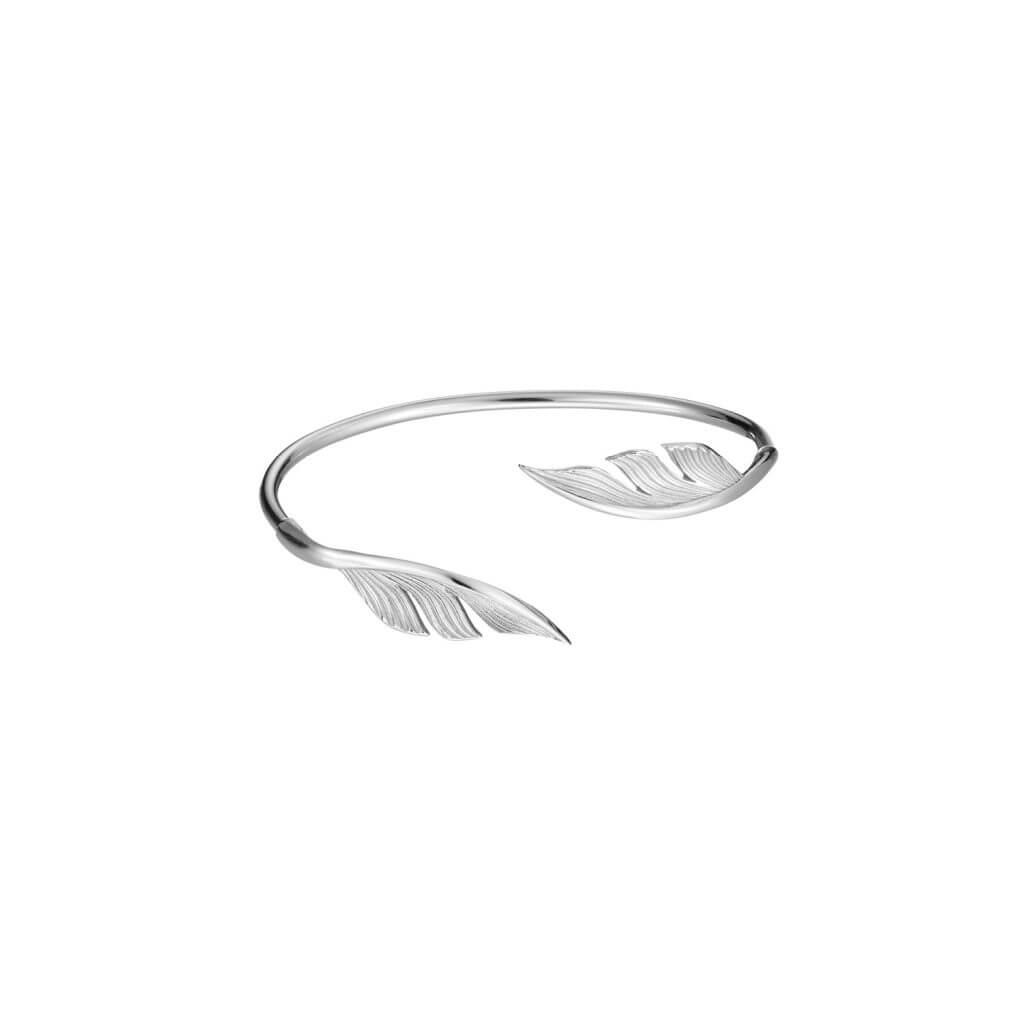 Skandinavischer Silberschmuck Armband Federn