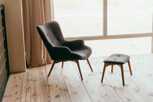 Skandinavische gepolsterte Stühle