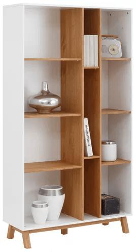 Skandinavisches Bücherregal aus Massivholz