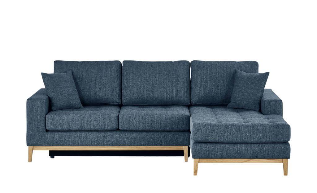 Skandinavisches Sofa mit Schlaffunktion in Dunkelblau