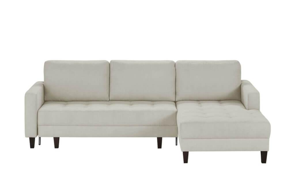 Skandinavisches Sofa mit Schlaffunktion cremefarben