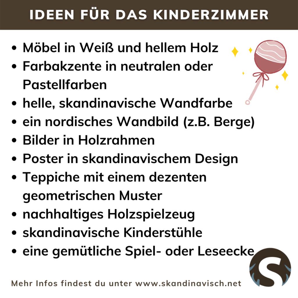 Ideen für das Kinderzimmer im nordischen Stil
