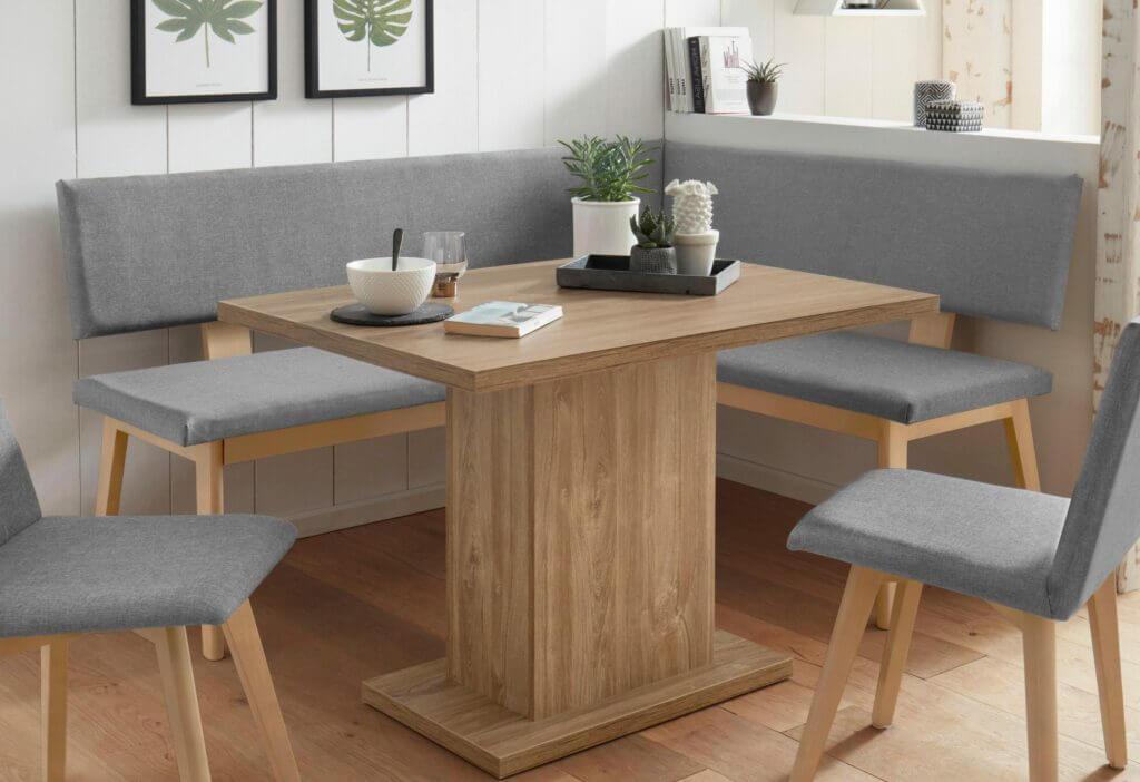 Skandinavisches Küchensofa klein grau Holz