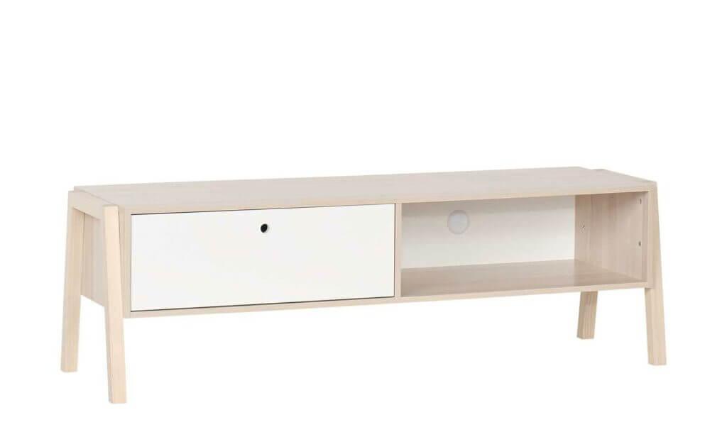 Skandinavisches Lowboard weiß Holz