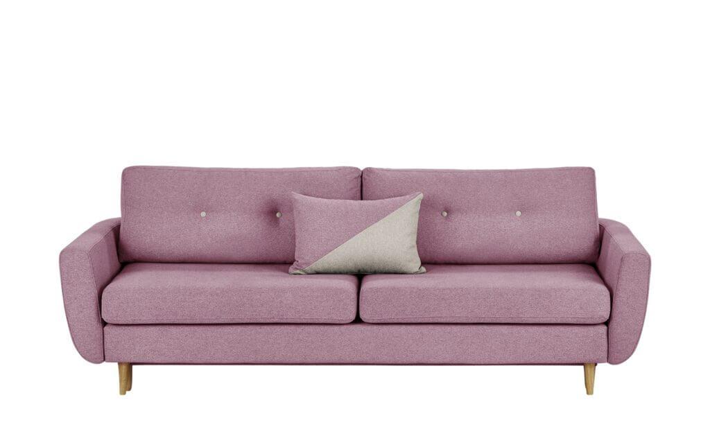 Skandinavisches Schlafsofa Querschläfer pink