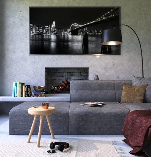 Skandinavisches Sofa mit Federkern