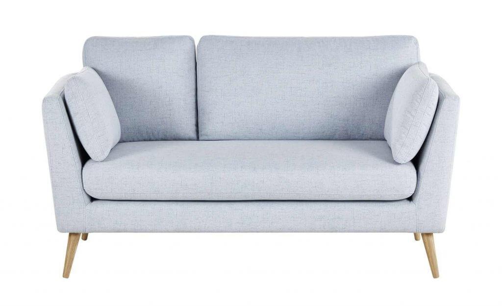 Skandinavisches Sofa Schaumstoffpolsterung blau