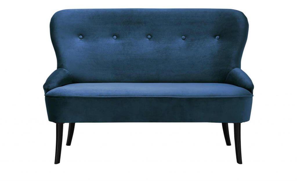 Skandinavisches Sofa Schaumstoffpolsterung dunkelblau