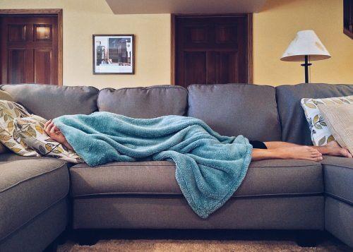 Skandinavisches Sofa in U-Form
