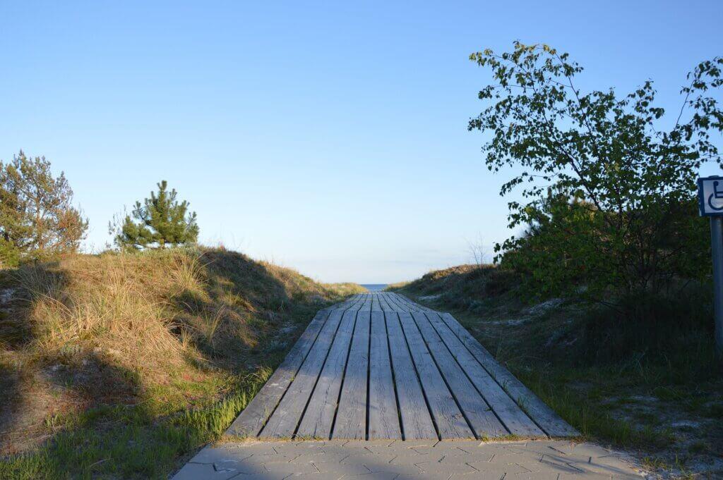 Der Weg zum Strand in Falsterbo